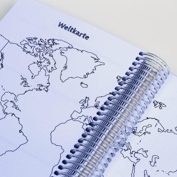 MemoME. Planer Weltkarte Ringbuch