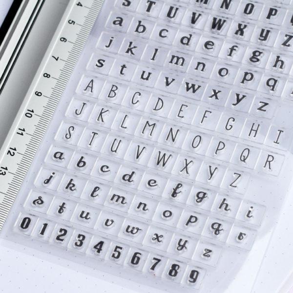 MemoME. Clearstamps Stempel Buchstaben
