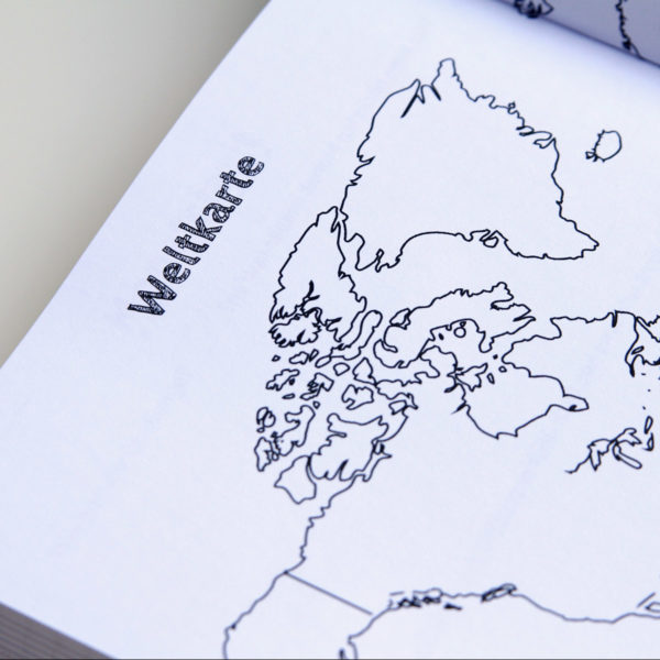 MemoMe. Planer Weltkarte