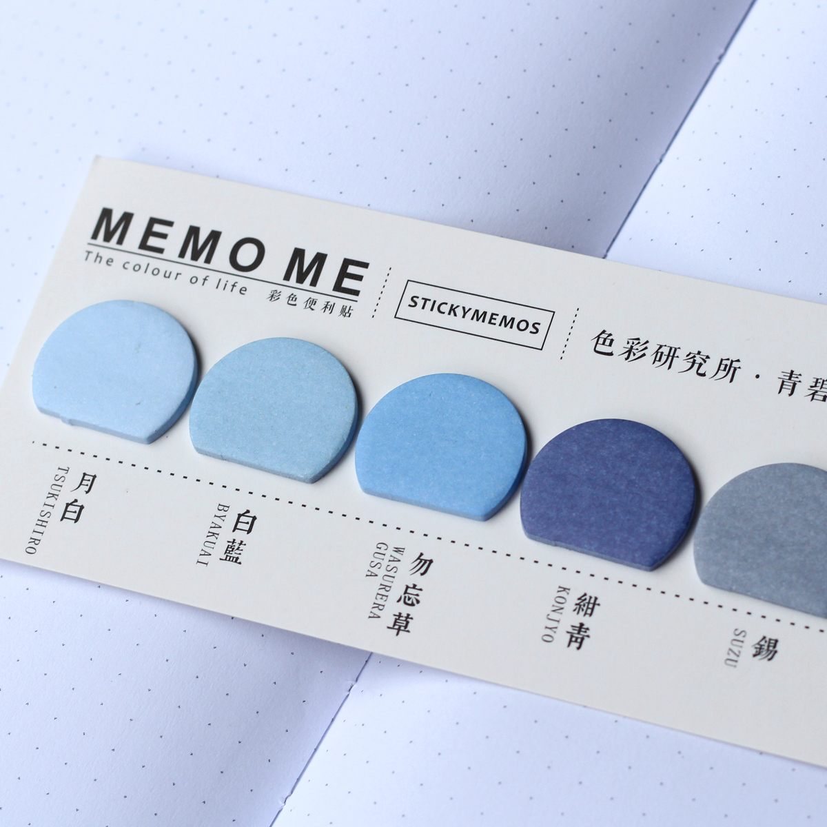 MemoMe Index Sticker blau