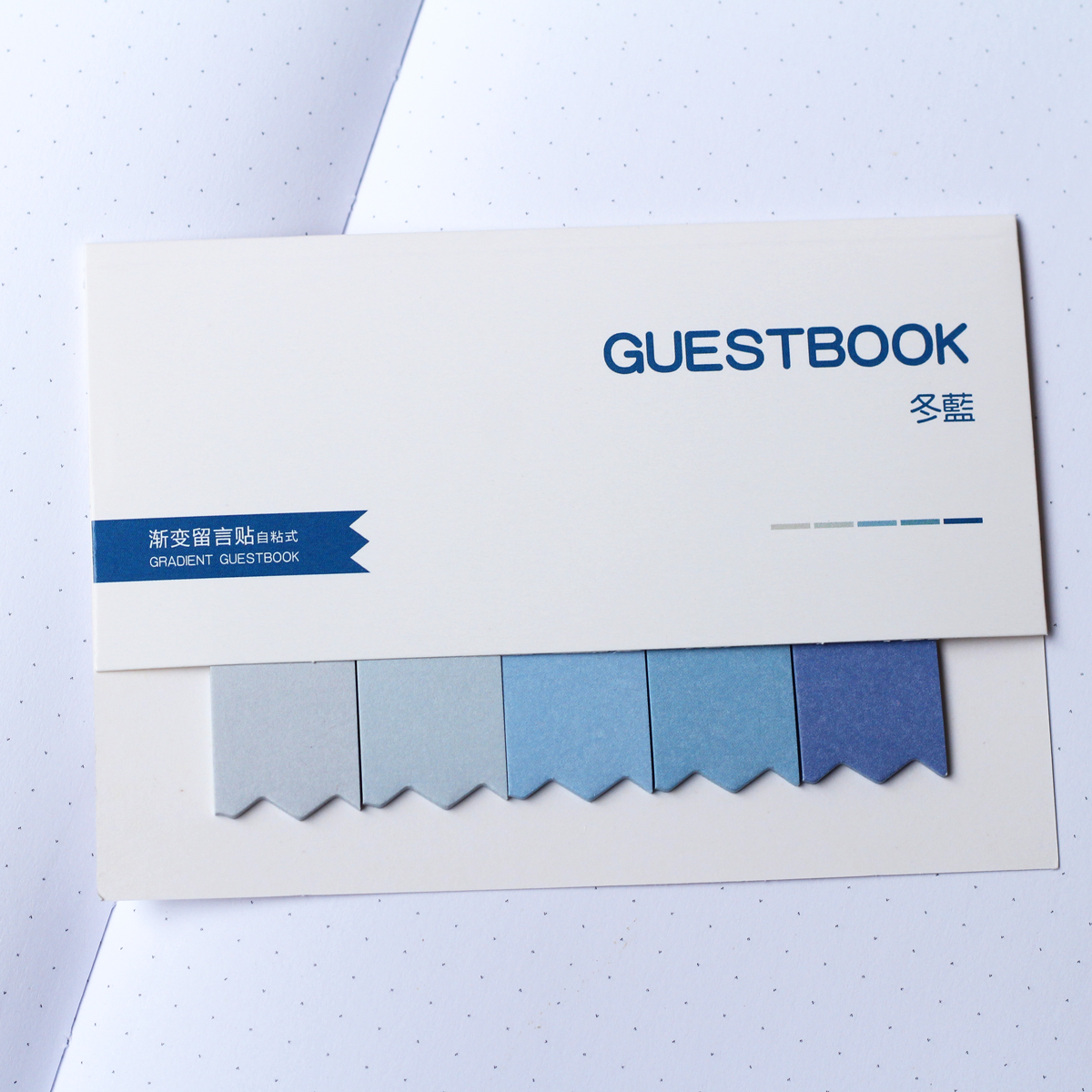 MemoMe Bookmark Sticker blau