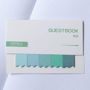 MemoMe Bookmark Sticker gruen
