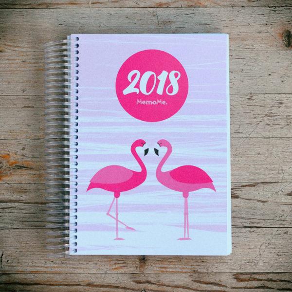 MemoME. Planer Ringbuch_Flamingo_Holz