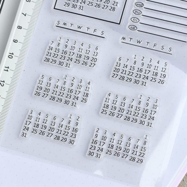 MemoME. Clearstamps Stempel Kalender